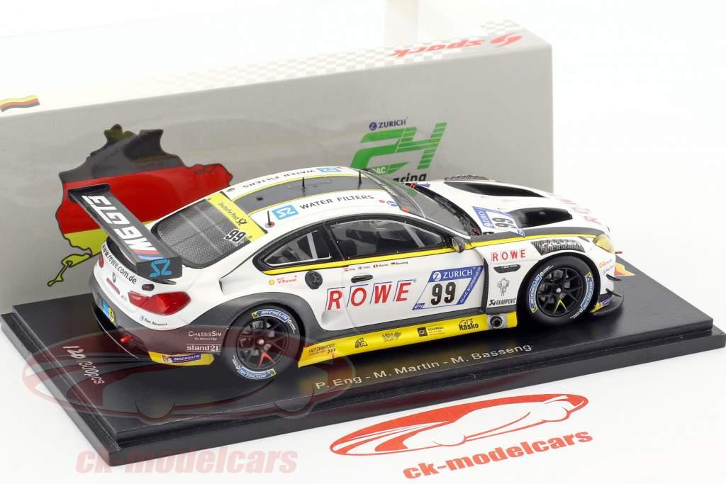 BMW M6 GT3 #99 10th 24h Nürburgring 2017 Rowe Racing 1:43 Spark