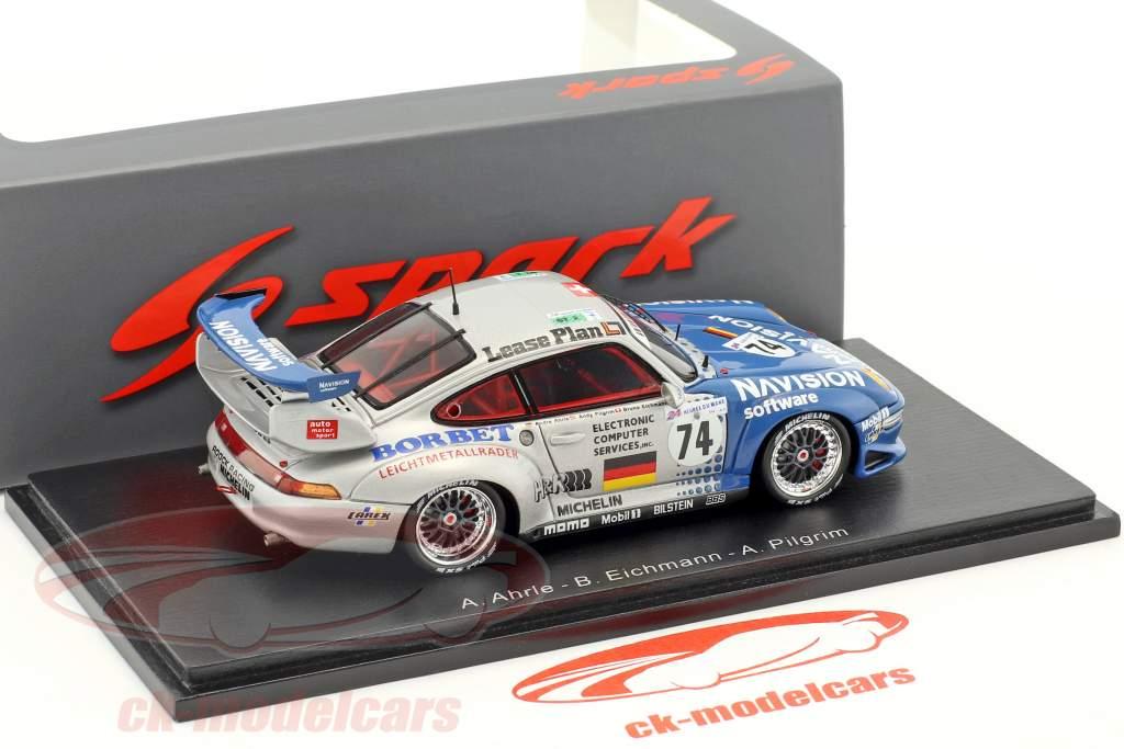 Porsche 911 GT2 #74 10 24h LeMans 1997 Ahrlé, Pilgrim, Eichmann 1:43 étincelle