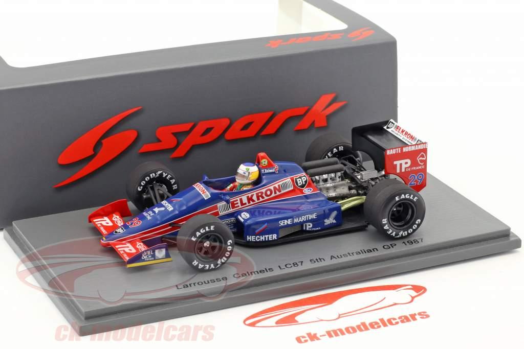 Yannick Dalmas Lola LC87 #29 5 ° australiano GP formula 1 1987 1:43 Spark