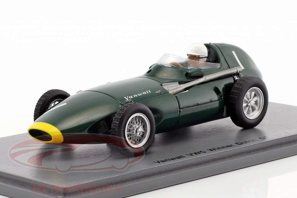 Stirling Moss Vanwall VW5 #1 gagnant néerlandais GP formule 1 1958 1:43 Spark