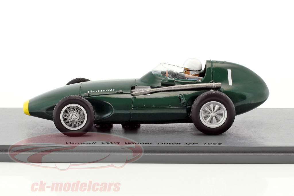 Stirling Moss Vanwall VW5 #1 winner Dutch GP formula 1 1958 1:43 Spark