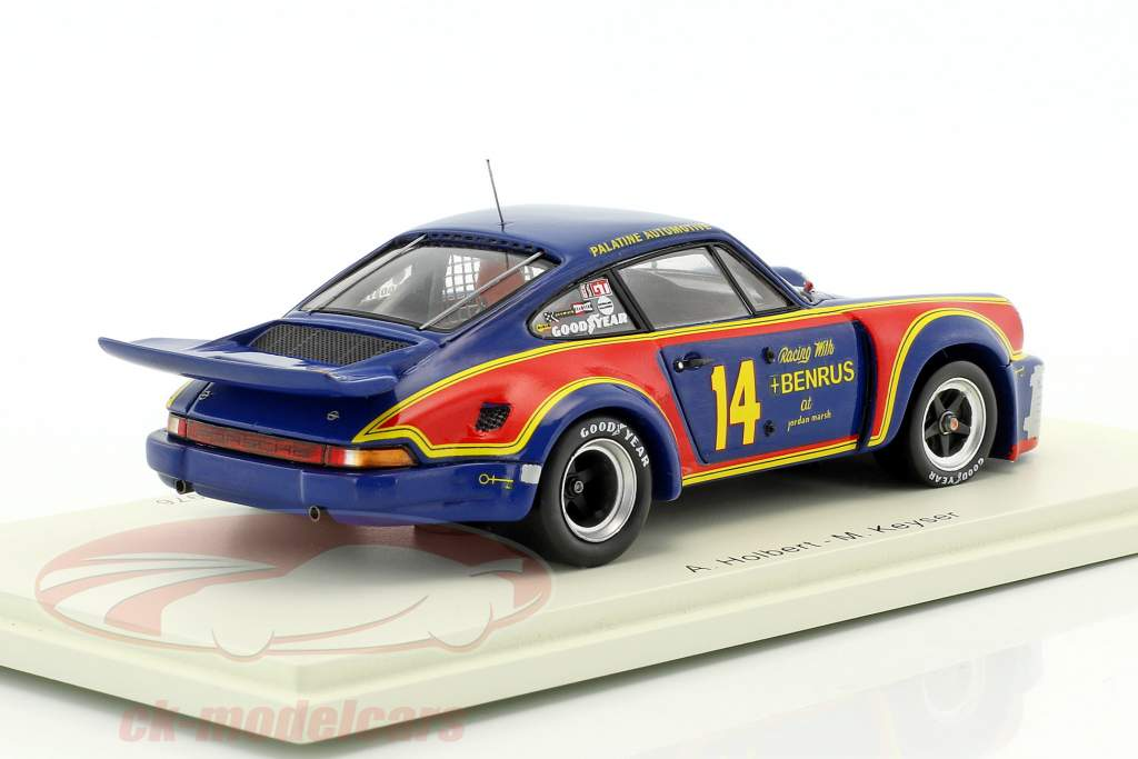 Porsche 911 Carrera RSR #14 gagnant 12h Sebring 1976 Holbert, Keyser 1:43 Spark