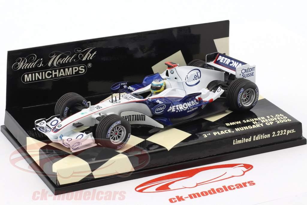 Nick Heidfeld BMW Sauber F1.06 #16 3 ° Ungheria GP formula 1 2006 1:43 Minichamps
