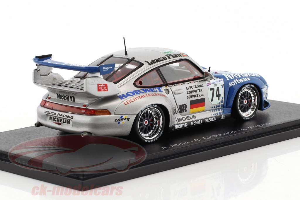 Porsche 911 GT2 #74 10 ° 24h LeMans 1997 Ahrlé, Pilgrim, Eichmann 1:43 scintilla