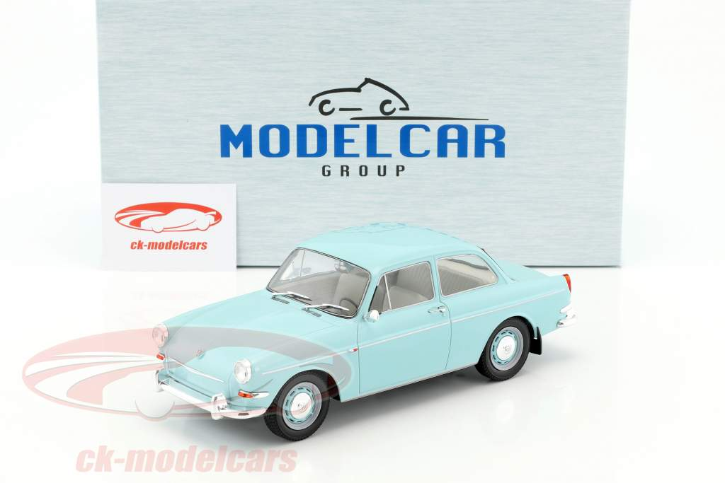 Volkswagen VW 1500 S (Typ 3) year 1963 light blue 1:18 Model Car Group