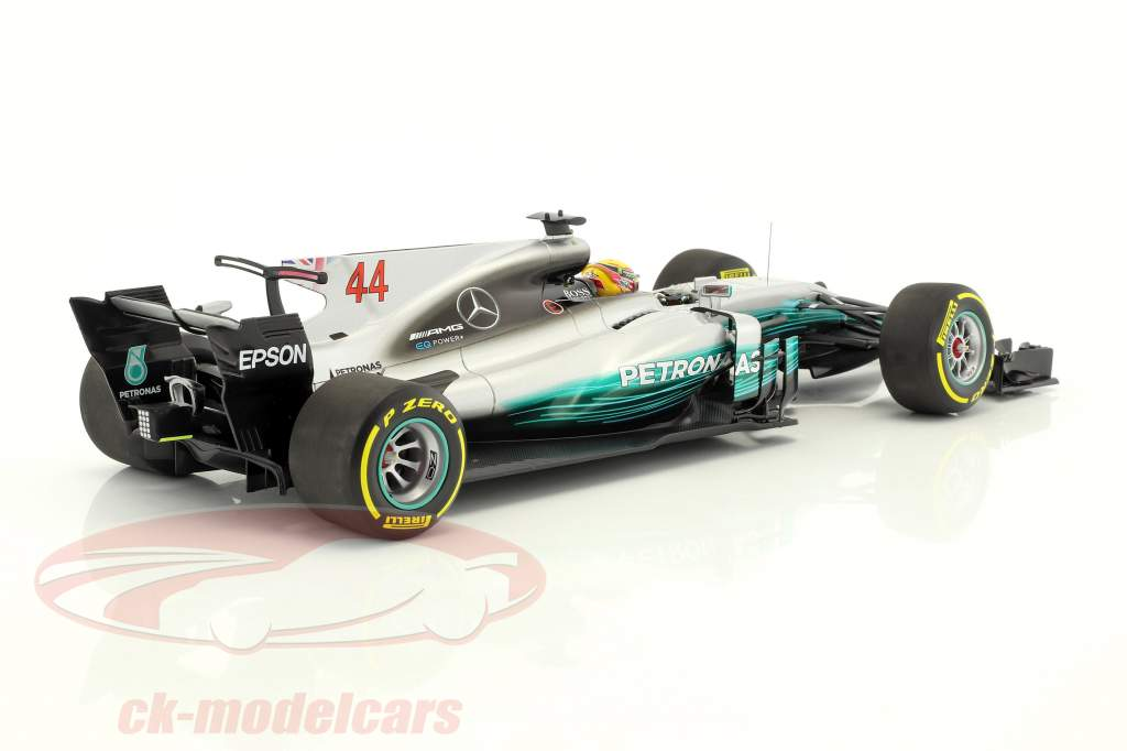 L. Hamilton Mercedes F1 W08 EQ Power  #44 World Champion Spanien GP F1 2017 1:18 Minichamps