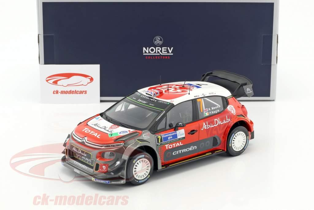 Citroen C3 WRC #7 Winner Rally Mexico 2017 Meeke, Nagle 1:18 Norev