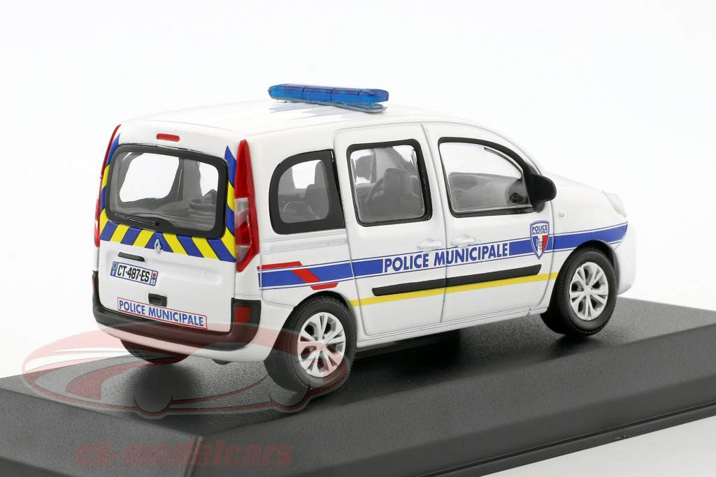 Renault Kangoo Police Municipale année de construction 2013 blanc 1:43 Norev
