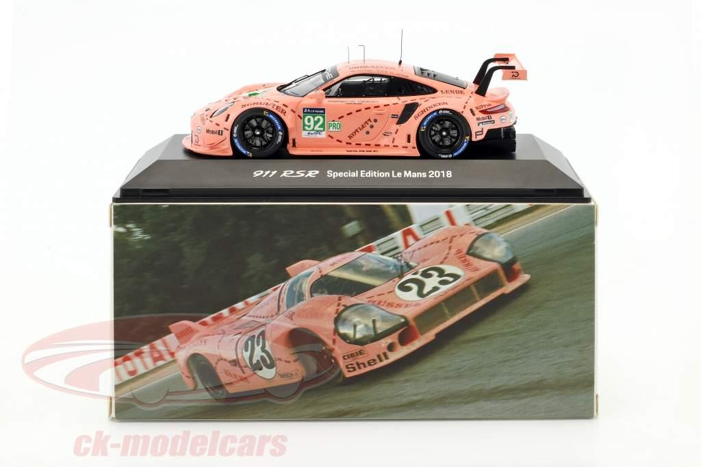 Porsche 911 RSR #92 Pink Pig Tribute 24h LeMans 2018 Porsche GT Team 1:43 Spark