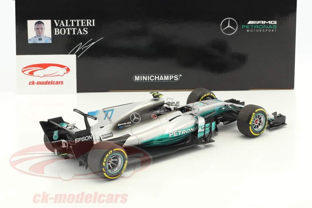 V. Bottas Mercedes F1 W08 EQ Power  #77 Spanish GP Formel 1 2017 1:18 Minichamps