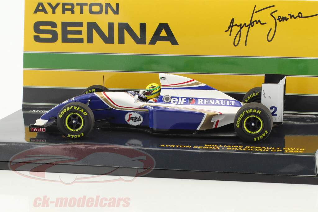 Ayrton Senna Williams FW16 #2 Brésil GP formule 1 1994 1:43 Minichamps