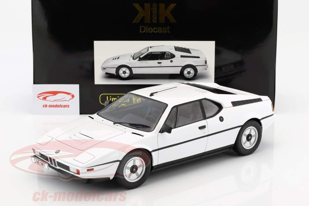 BMW M1 (E26) Street year 1978 white 1:12 KK-Scale