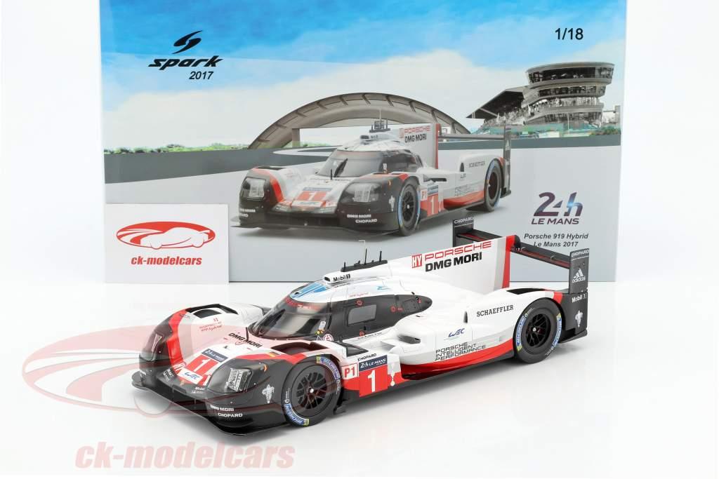 Porsche 919 Hybrid #1 24h LeMans 2017 Jani, Tandy, Lotterer 1:18 Spark