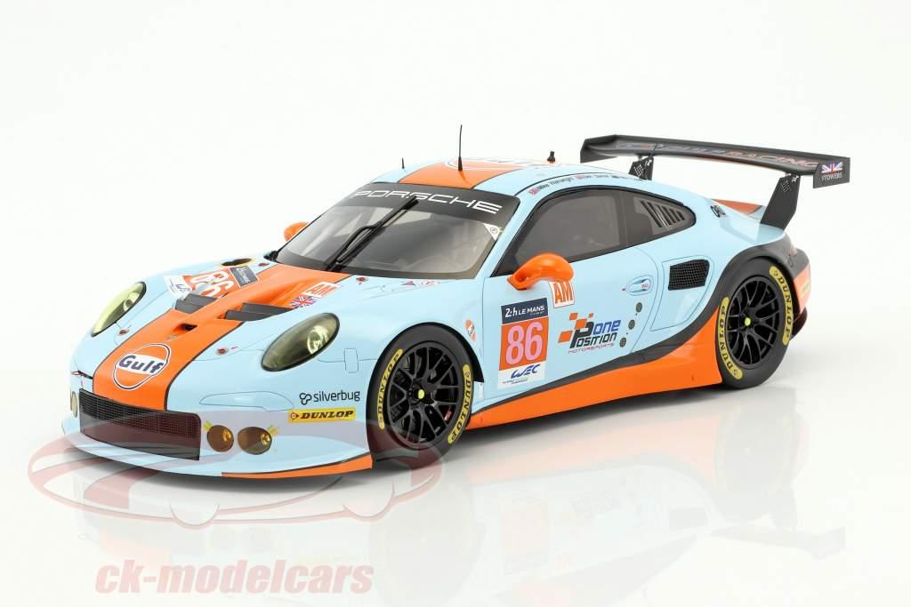 Porsche 911 RSR #86 24h LeMans 2017 Wainwright, Barker, Foster 1:18 Spark