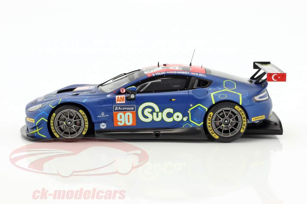 Aston Martin Vantage GTE #90 24h LeMans 2017 Yoluc, Hankey, Bell 1:18 Spark