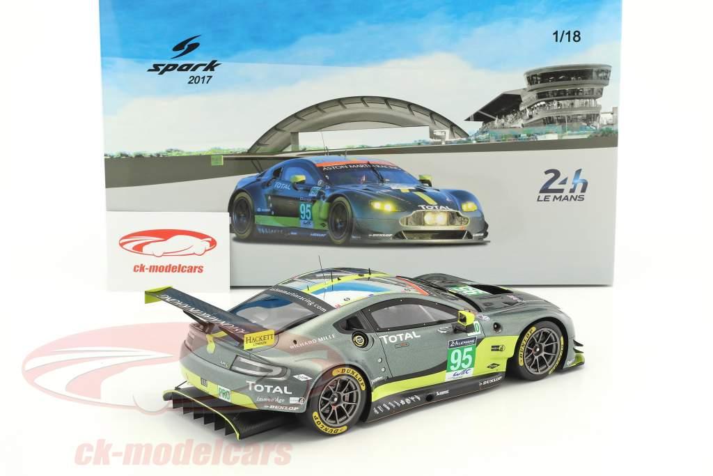 Aston Martin Vantage GTE #95 24h LeMans 2017 Thiim, Sorensen, Stanaway 1:18 Spark