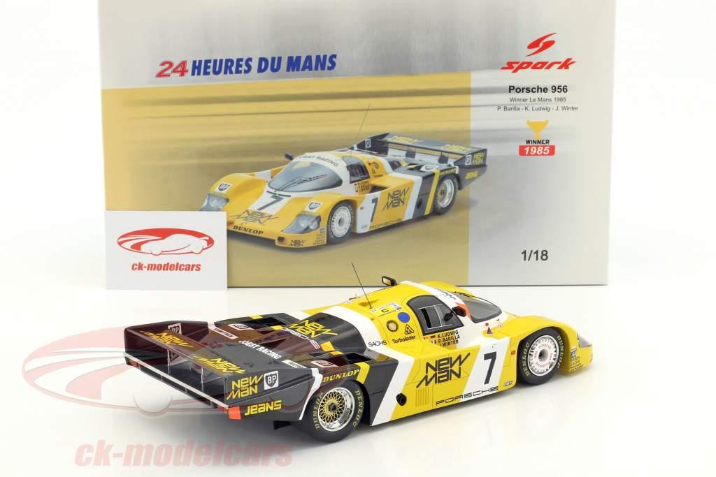 Porsche 956B #7 vincitore 24h LeMans 1985 Ludwig, Barilla, Winter 1:18 Spark
