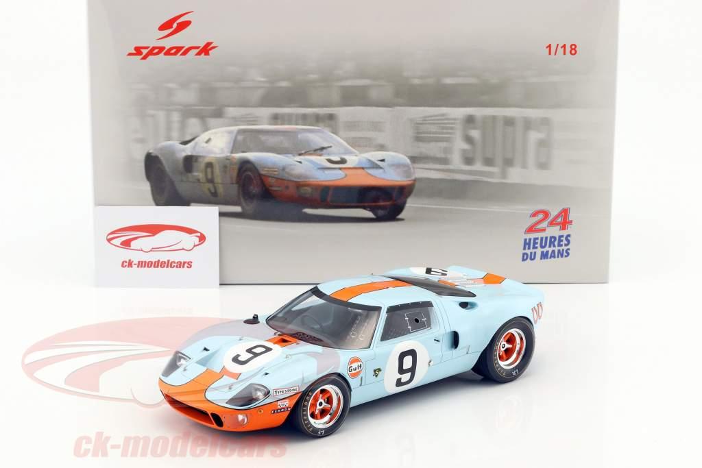 Ford GT 40 Mk I #9 vincitore 24h LeMans 1968 Rodríguez / Bianchi 1:18 Spark