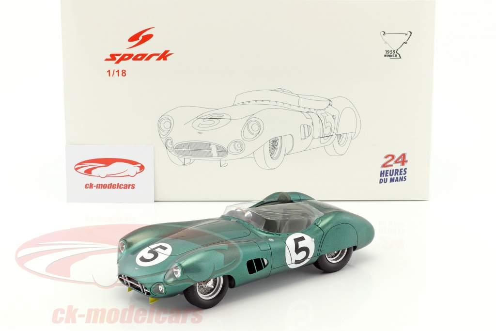 Aston Martin DBR1 #5 Winner 24h LeMans 1959 Shelby, Salvadori 1:18 Spark