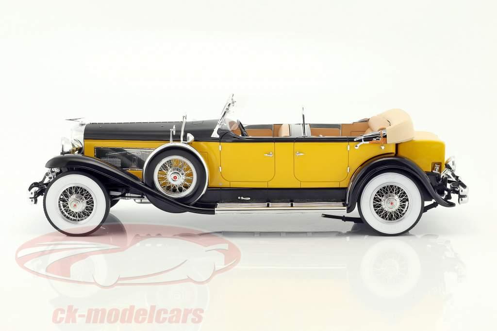 Duesenberg Model SJ Tourster Derham Baujahr 1932 gelb-orange / schwarz 1:12 Premium ClassiXXs
