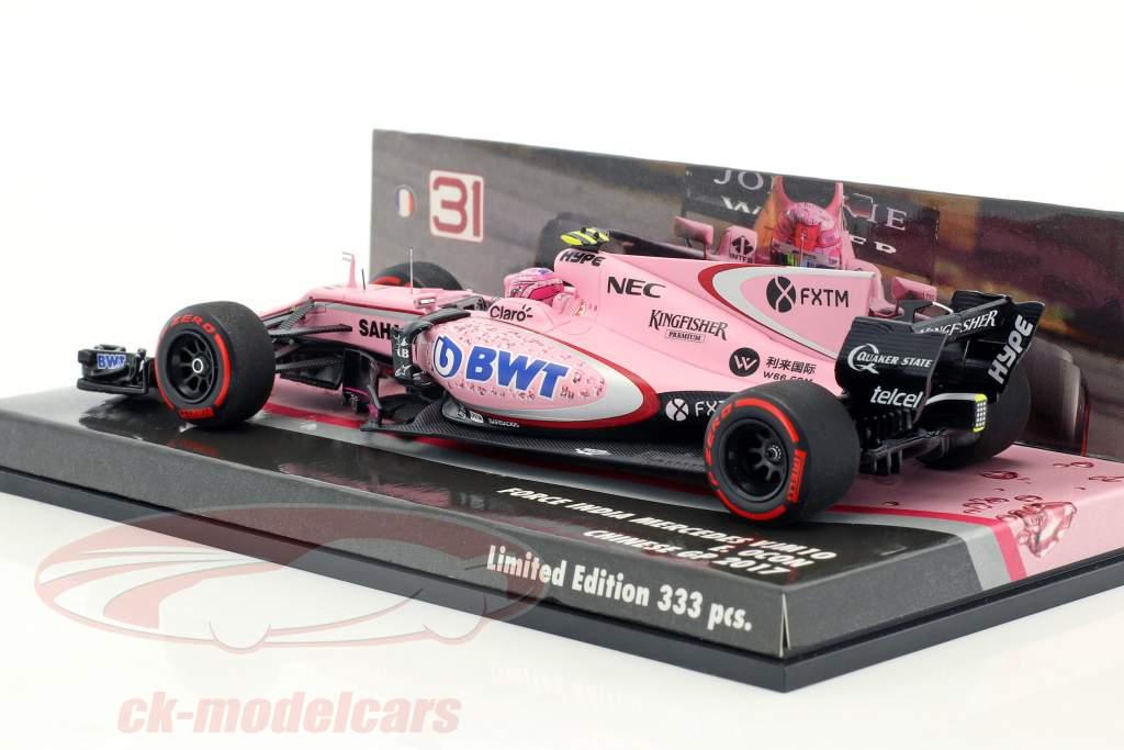 Esteban Ocon Force India VJM10 #31 GP China Formel 1 2017 1:43 Minichamps