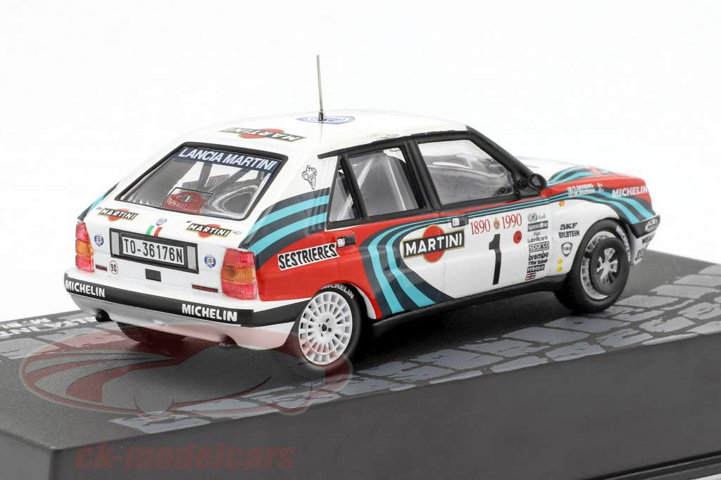 Lancia Delta Integrale 16V #1 3rd Rallye Monte Carlo 1990 Biasion, Siviero 1:43 Altaya