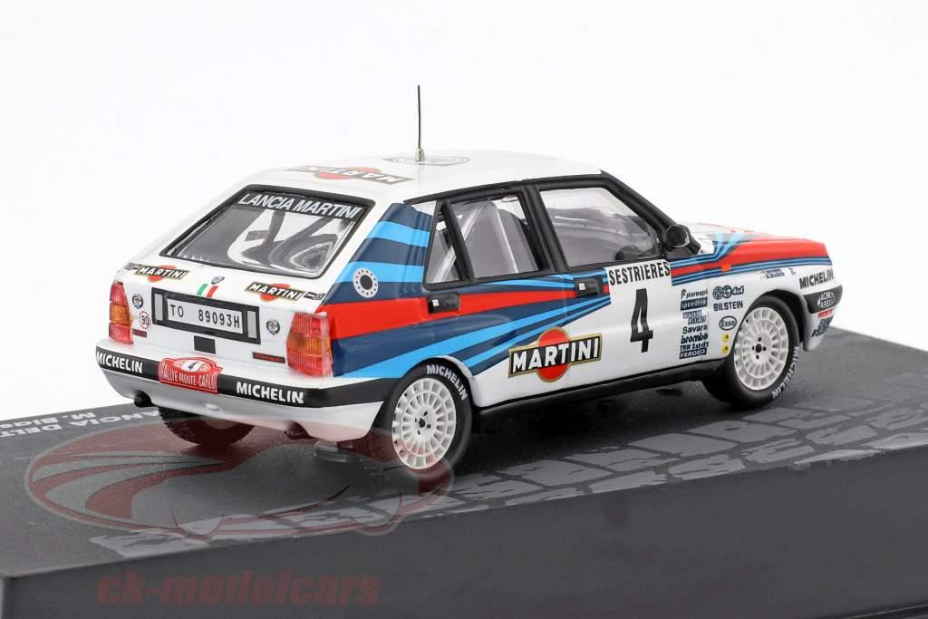 Lancia Delta Integrale #4 gagnant Rallye Monte Carlo 1989 Biasion, Siviero 1:43 Altaya