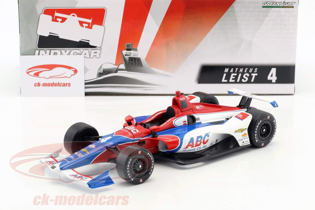 Matheus Leist Chevrolet #4 IndyCar Series 2018 A. J. Foyt Enterprises 1:18 Greenlight