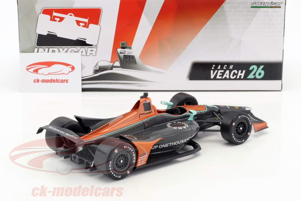 Zach Veach Honda #26 IndyCar Series 2018 Andretti Autosport (Group One Thousand One) 1:18 Greenlight