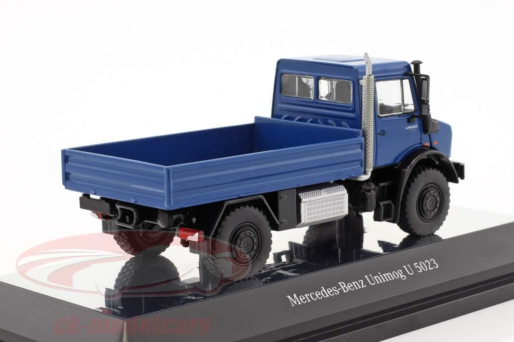 Mercedes-Benz Unimog U 5000 with plans blue / silver 1:50 NZG