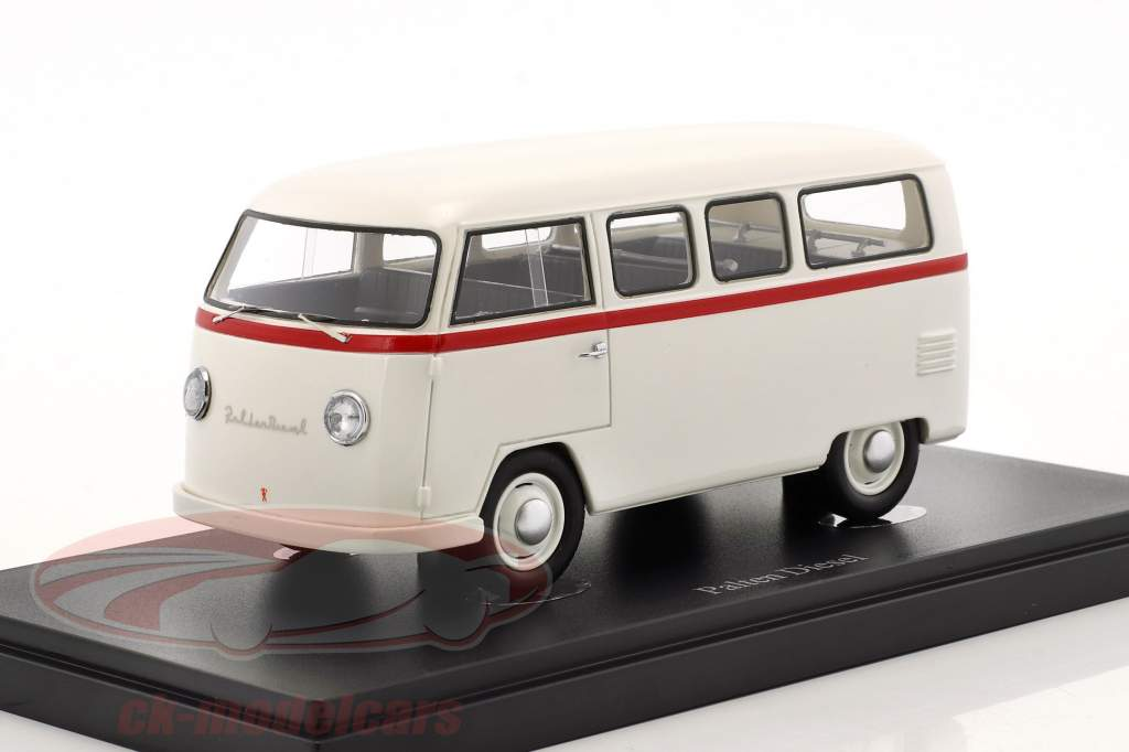 Volkswagen VW Palten Diesel van année de construction 1954 blanc 1:43 AutoCult