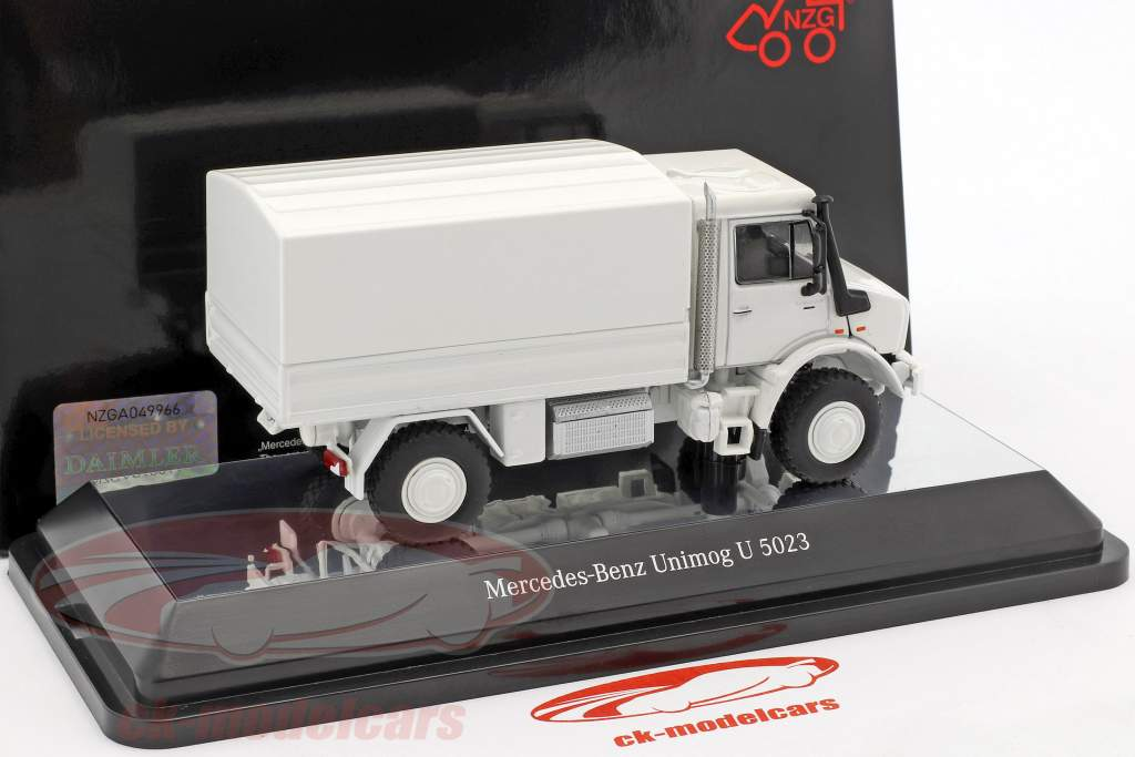 Mercedes-Benz Unimog U 5000 with plans white 1:50 NZG
