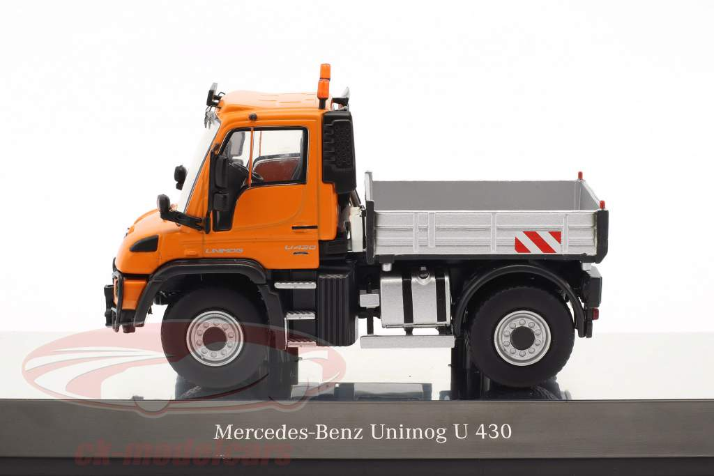 Mercedes-Benz Unimog U 400 with platform orange / silver 1:50 NZG