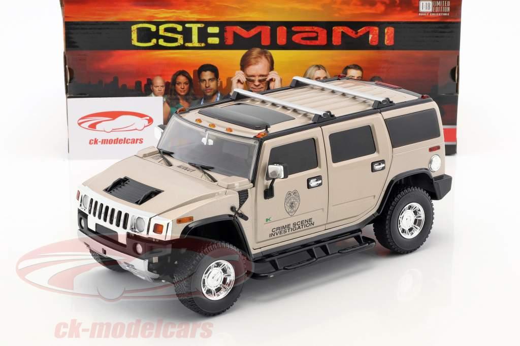 Horatio's Hummer H2 anno di costruzione 2003 serie TV CSI Miami (2002-2012) grigio chiaro metallico 1:18 Greenlight
