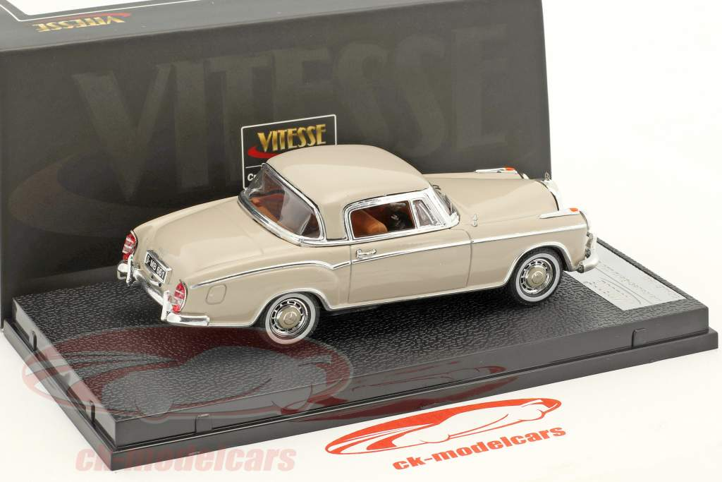 Mercedes-Benz 220 SE coupe year 1959 cream 1:43 Vitesse