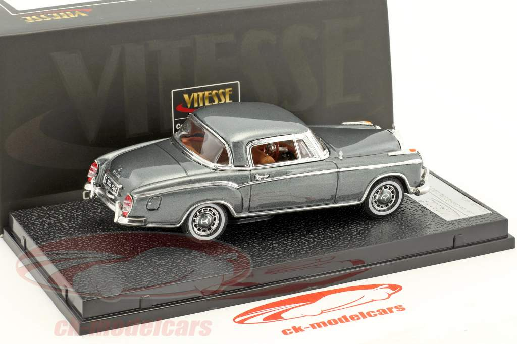 Mercedes-Benz 220 SE coupe year 1959 silver gray metallic 1:43 Vitesse