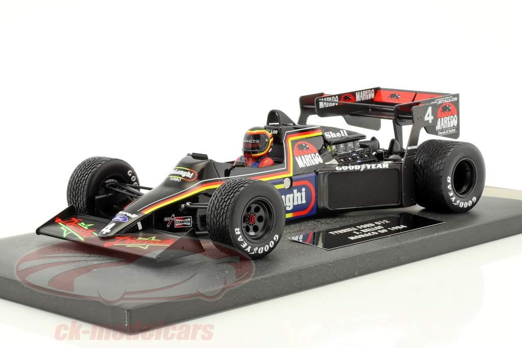 Stefan Bellof Tyrrell 012 #4 Monaco GP Formel 1 1984 mit Cap 1:18 Minichamps