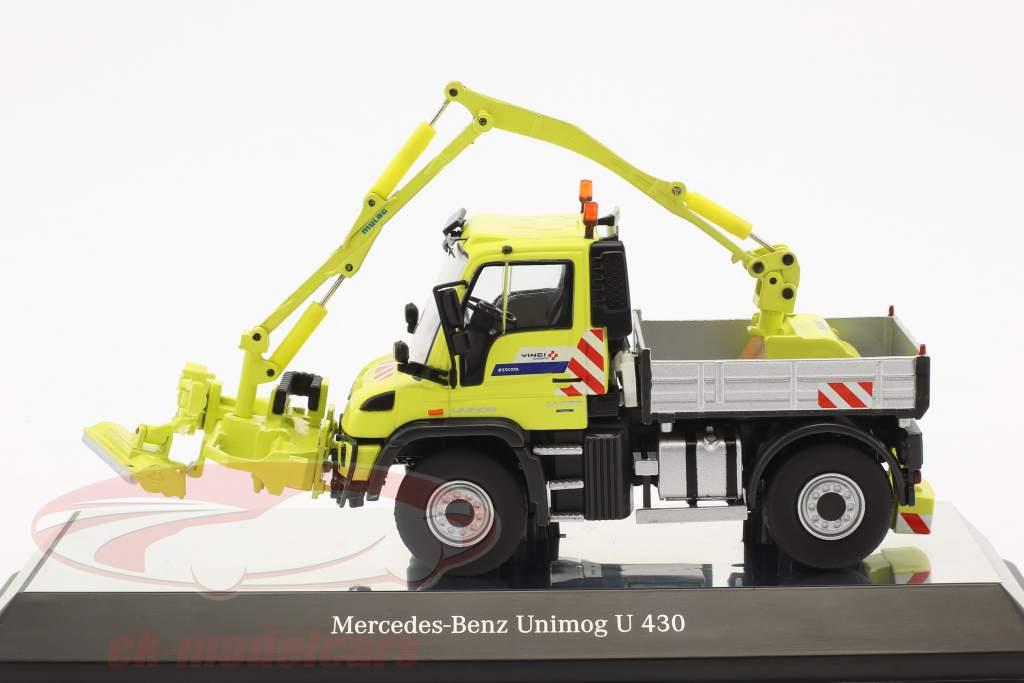 Mercedes-Benz Unimog U 400 Mulag MKM 700 gelb / silber 1:50 NZG