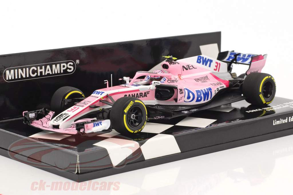 Esteban Ocon Force India VJM11 #31 Showcar Formel 1 2018 1:43 Minichamps
