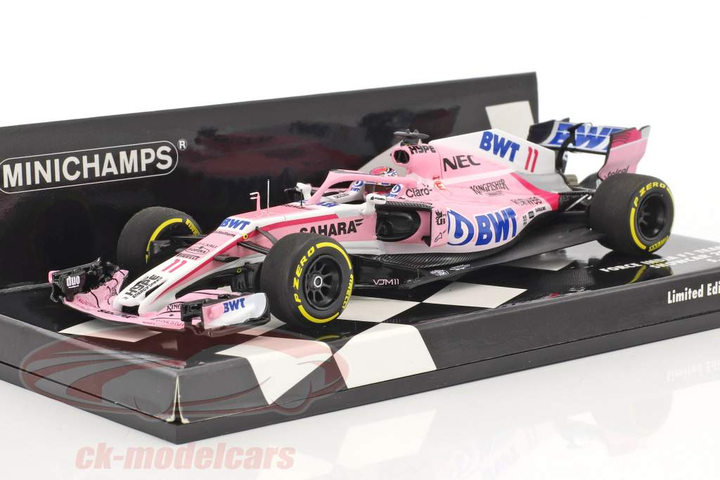 Sergio Perez Force India VJM11 #11 showcar formula 1 2018 1:43 Minichamps