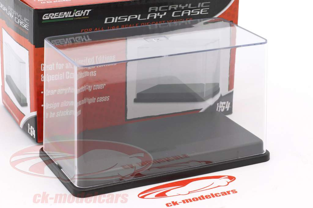 Acryl Vitrine with black plastic base For models in scale 1:64 Greenlight