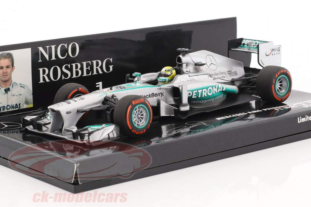 Nico Rosberg Mercedes F1 W04 #9 USA GP formule 1 2013 1:43 Minichamps