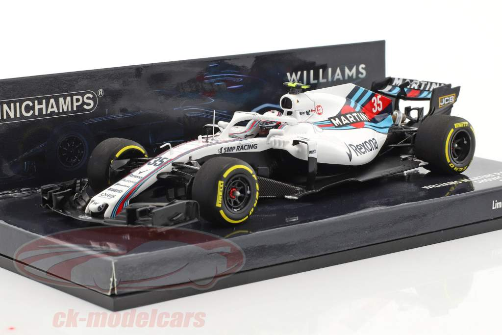 Sergei Sirotkin Williams FW41 #35 showcar formula 1 2018 1:43 Minichamps