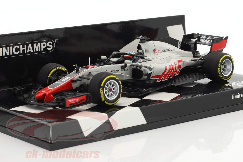 Romain Grosjean Haas VF-18 #8 showcar formule 1 2018 1:43 Minichamps