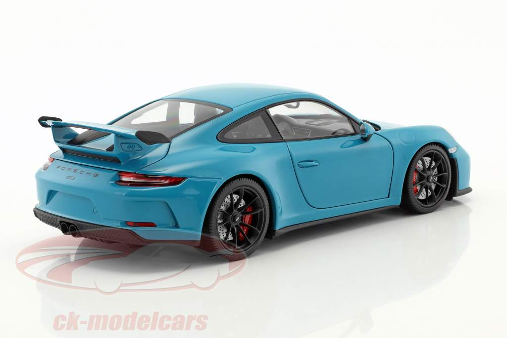 Porsche 911 (991) MKII GT3 year 2017 miami blue 1:18 Minichamps