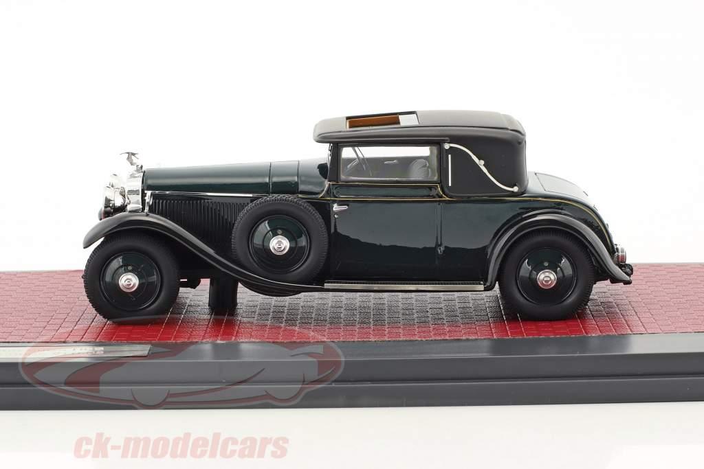 Hispano-Suiza H6B Park Ward Coupe Baujahr 1927 dunkelgrün 1:43 Matrix
