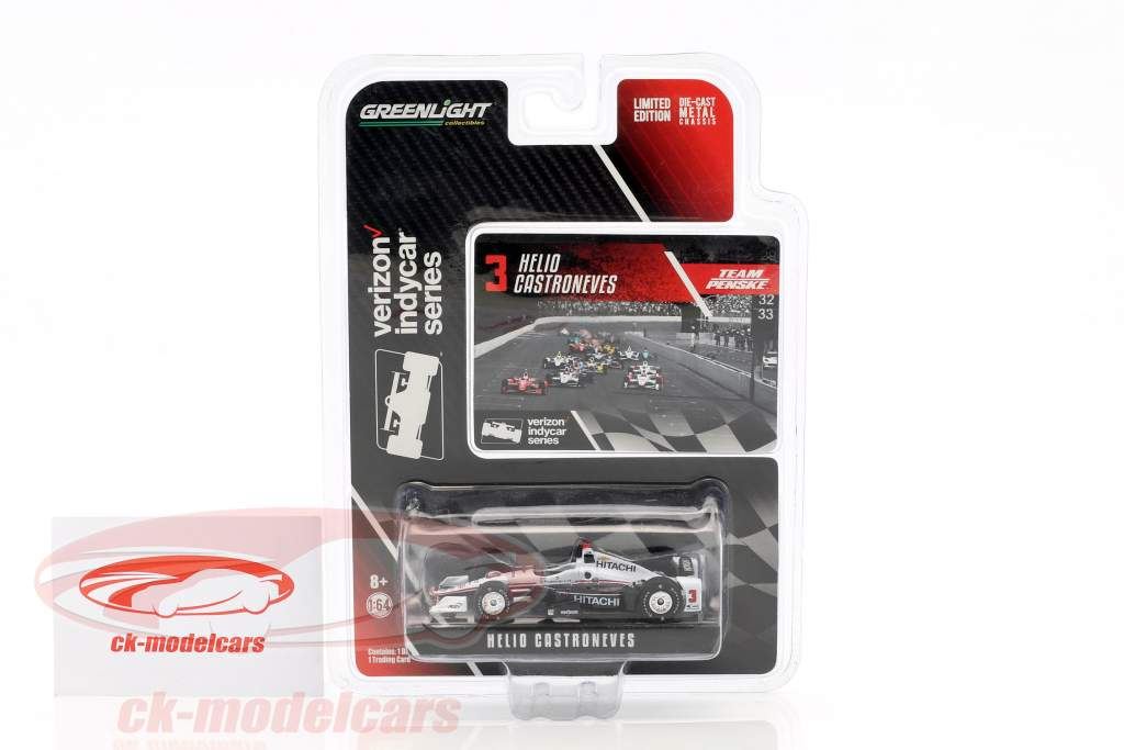 Helio Castroneves Chevrolet #3 3 IndyCar Series 2016 1:64 Greenlight