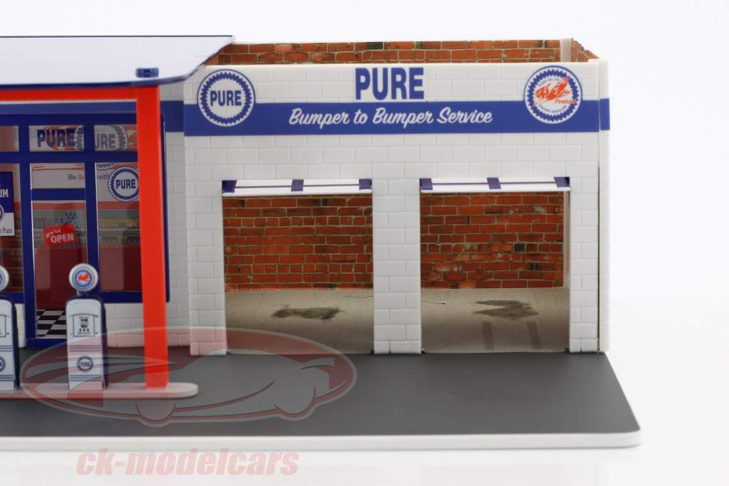 Vintage Tankstelle Pure Oil Mechanic's Corner Series III 1:64 Greenlight