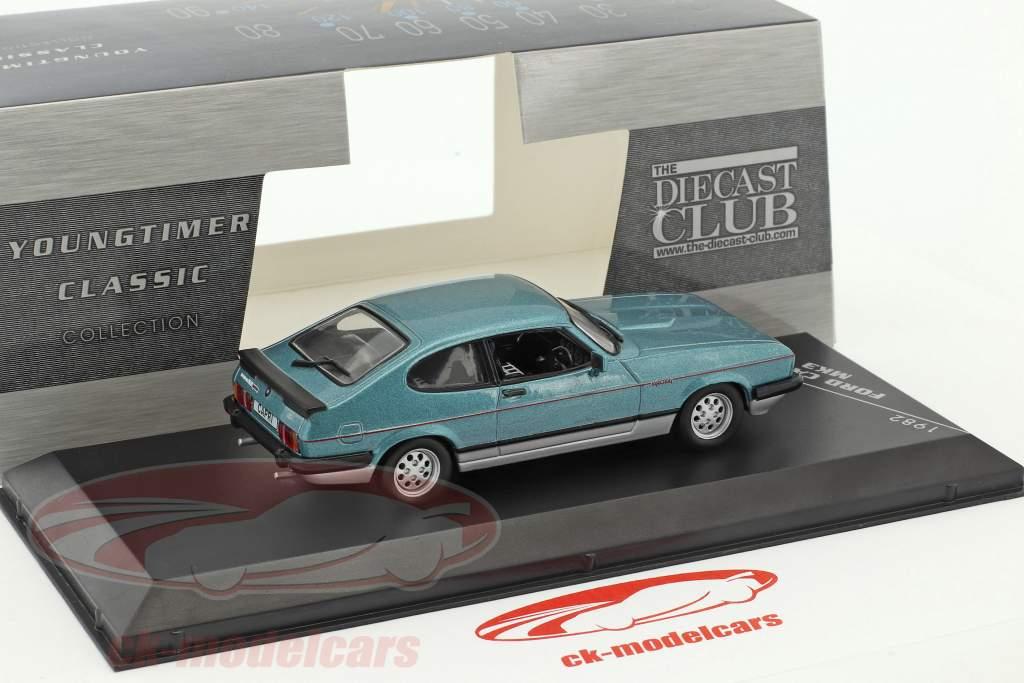 Ford Capri MKIII 2.8 année de construction 1982 bleu métallique / argent 1:43 GTI Collection