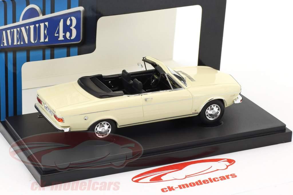 Audi 100 LS Cabriolet year 1969 white 1:43 AutoCult